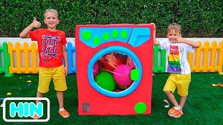 व्लाद और निकी खिलौने के साथ खेलते हैं - बच्चों के लिए संग्रह वीडियो