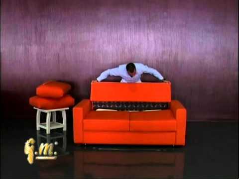 раскладной диван кровать с матрасом седафлекс американка италия