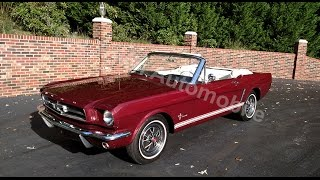1965 Ford Mustang Convertible in burgundy for sale Old Town Automobile in Maryland