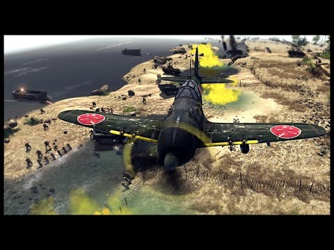 Amphibious X-Day Assault - Allied Invasion of Japan | Men of War Assault Squad 2 Mod Gameplay
