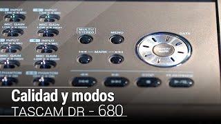 Calidad y modos de grabación   Tascam DR-680