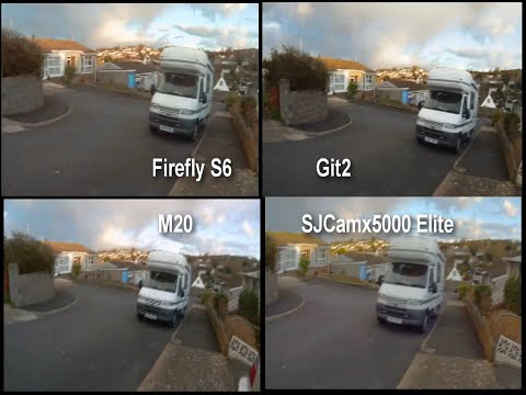 4 Gyro Stabilised Action Cameras Tested Side by Side, Firefly, SJCam, Git2, M20
