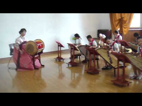 Children Practicing At North Korea's Mangyongdae Children's Palace