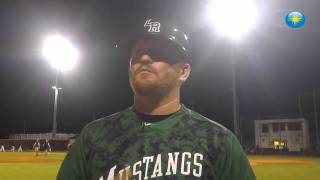 Lakewood Ranch baseball coach Ryan Kennedy talks after his team beat Countryside 5-3 Wednesday in an