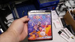 Coco 4K Blu ray Unboxing