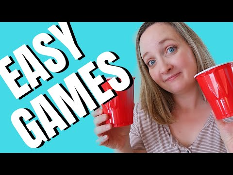 4 EASY Kids Party Games with Plastic Cups