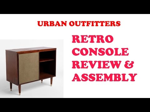 Urban Outfitters Draper Media Console unboxing review and assembly -- I Review Crap!