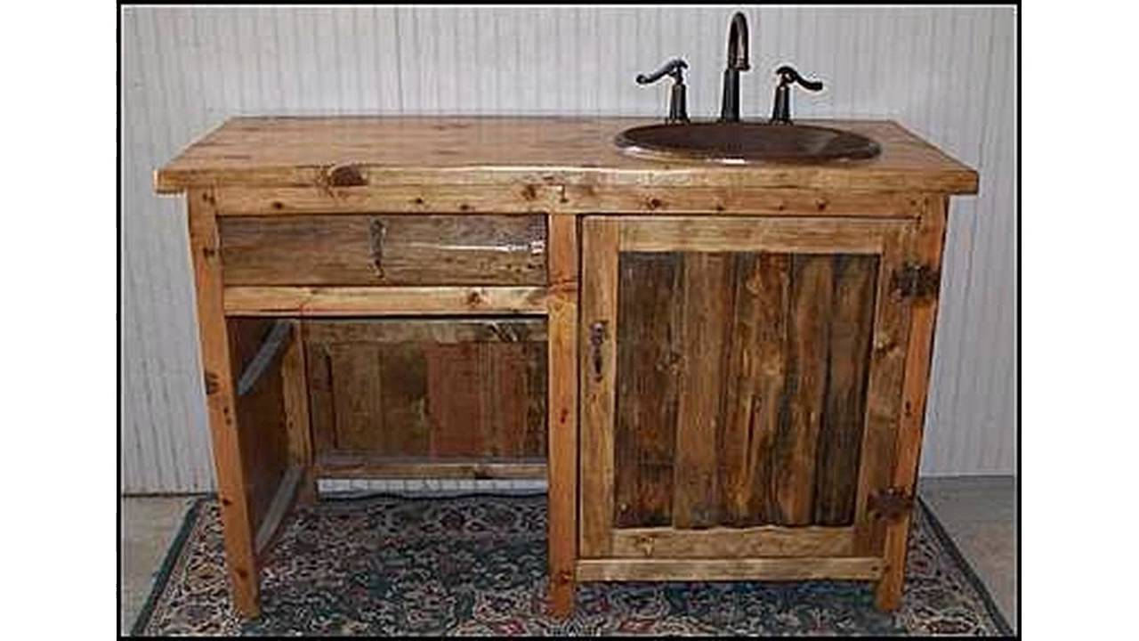 Rustikale Badezimmer Eitelkeit