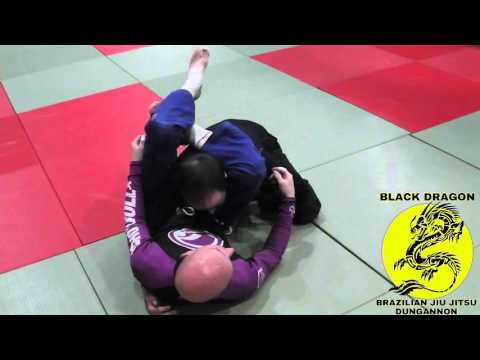 closed guard /  push through triangle