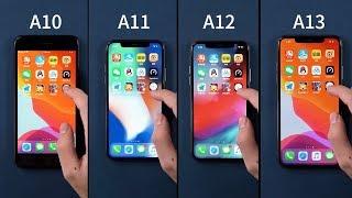 A10 vs A11 vs A12 vs A13 - Speed Test
