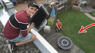 TV vs MINI TRAMPOLINE