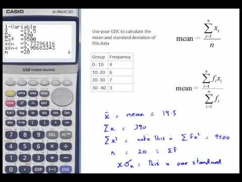 Casio hint 16 Mean and Standard Deviation calculation - YouTube