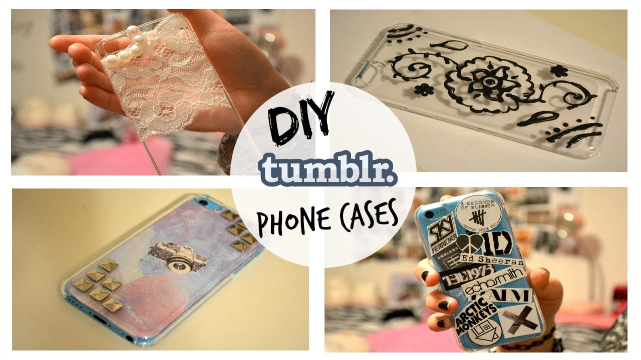 DIY Tumblr Inspired Phone Cases - YouTube