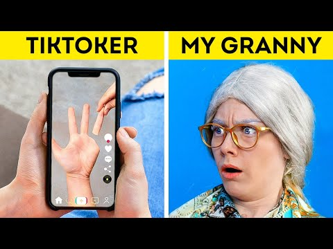 GRANNY CAN'T BELIEVE IT! 29 TikTok Tricks, Trends and Viral Hacks