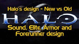 Halo's design - New vs Old #1   Sound design, Elite design, Armor design, and Forerunner design