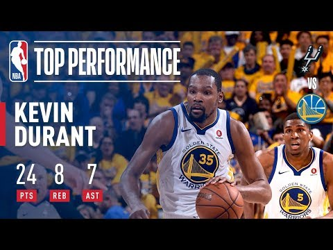 Kevin Durant Helps Dubs To A Game 1 Victory Over Spurs