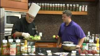 Badia Spice Chef Hector Morales Shows Joey Brooks How To Prepare A Fresh Baby Green Salad