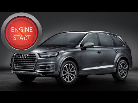 Audi Q7, post 2016: Opening and starting this push-button start model with a dead key fob battery.