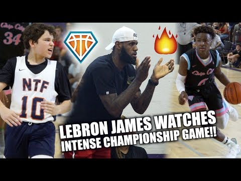 LEBRON JAMES WATCHES HEATED🔥 CHAMPIONSHIP GAME!!   Blue Chips vs NTF at Balling on the Beach