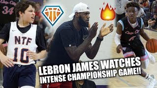 LEBRON JAMES IS LIT🔥 WATCHING HEATED CHAMPIONSHIP GAME!! | NCBC vs NTF at Balling on the Beach