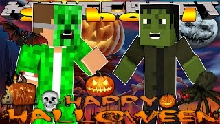 Minecraft School -VISITING HALLOWEEN TOWN & FRANKENSTEIN #3 w/Little Lizard & Tiny Turtle