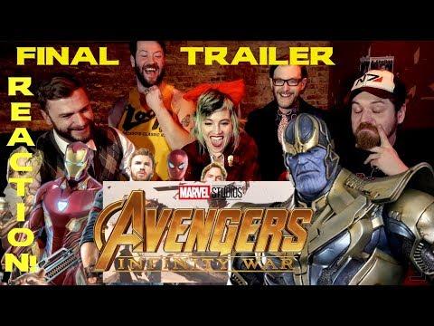 Watchers in the Bar: Avengers INFINITY WAR FINAL TRAILER REACTION!!!