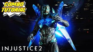 Injustice 2: Short Blue Beetle COMBO TUTORIAL (Beginners Guide!)