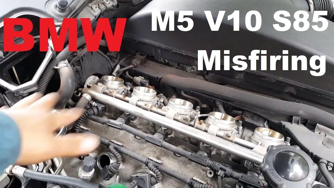 2005 bmw m5 s85 engine misfiring diagnose case study youtube rh youtube com BMW E60 M5 Engine BMW 350I