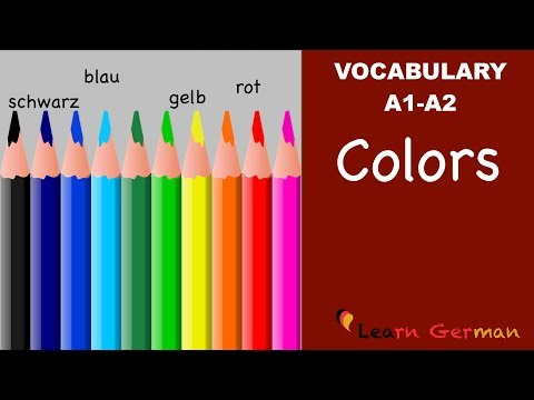 Learn German Vocabulary - Colors / Colours in German (Farben)