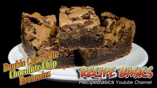 Double Chocolate Chocolate Chip Brownies Recipe