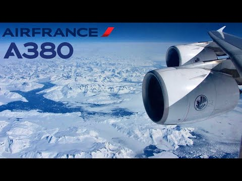 Air France Airbus A380, Arctic route 🇫🇷 Paris CDG - Los Angeles LAX 🇺🇸 [FULL FLIGHT REPORT]