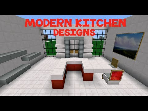 minecraft: modern kitchen designs - youtube