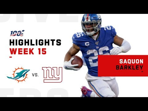 Saquon Barkley's First 100-Yd Game Since Week 2 | NFL 2019 Highlights