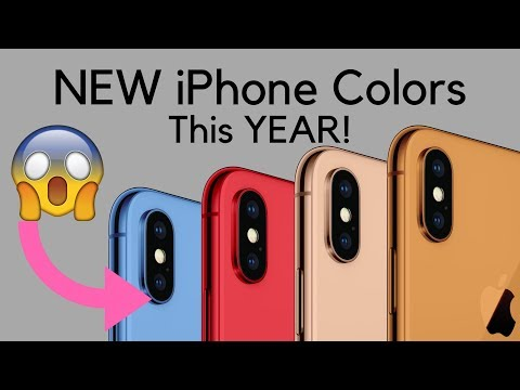 NEW COLORS for 2018 iPhone 9!