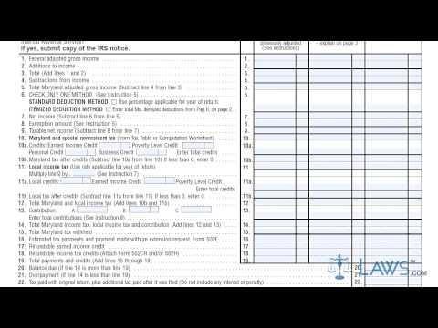 Form 502X Amended Maryland Tax Return YouTube