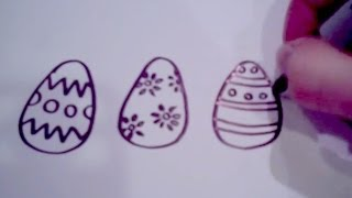 How to Draw Cartoon Easter Eggs