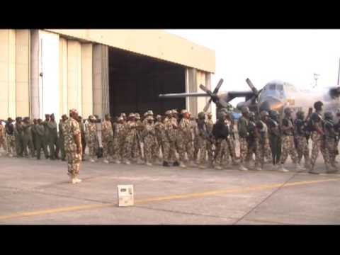 Nigerian Special Troops Return From Gambia
