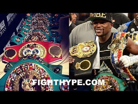 "MAYWEATHER STUNTS ON WBC, WBA, IBF, AND WBO; EXPLAINS WHY ""I NEED MY FACE ON ALL BELTS"""