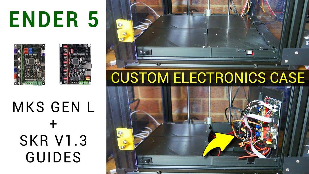 Ender 5 SKR V1 3 & MKS Gen L guide + custom electronics enclosure