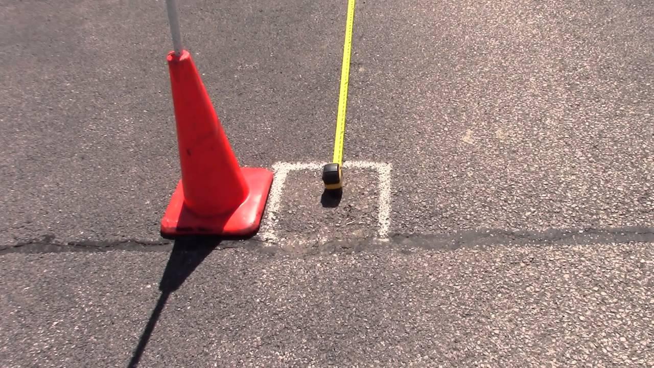 Car Maneuver Test Setting Up The Cones