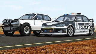 REALISTIC Police Chases #8 - High Speed Cars BeamNG DRIVE