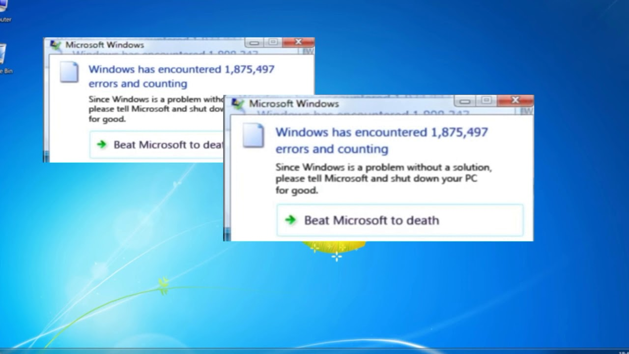 Windows Error Meme Original Lazy W Youtube