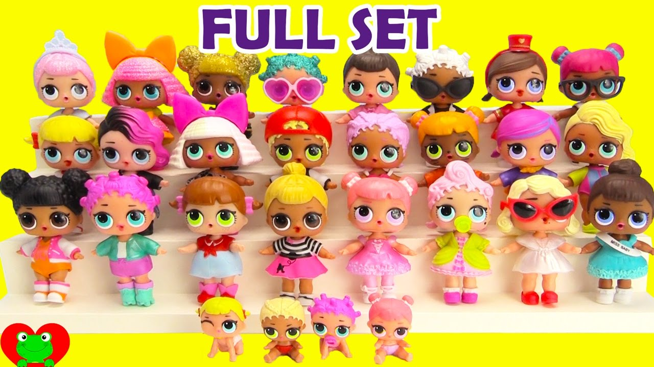 L.O.L. Dolls FULL SET Complete Collection - YouTube