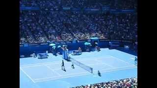 Moment of Roger Federer's victory in the 1st round AO 2013 / 全豪オープン2013 1回戦のロジャー・フェデラーの勝利の瞬間