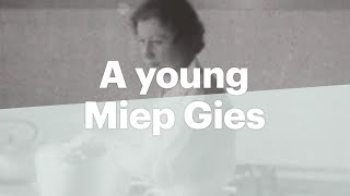 Unique film of a young Miep Gies