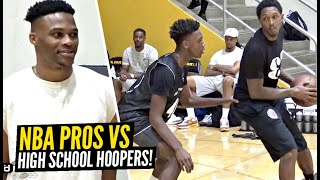 NBA Pros vs High School Hoopers!! NBA Pros Give High Schoolers A Taste Of The NBA & Advice!