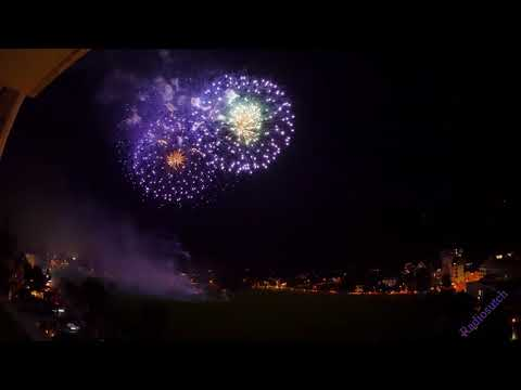 Swiss National Day 1st August 2017 - Interlaken Fireworks 4K UHD  ** Full Display **