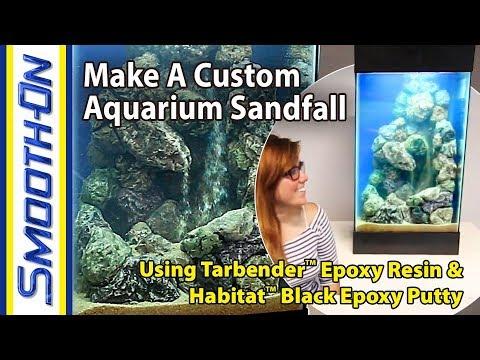 How To Make a Custom Aquarium Sandfall using Habitat™ Epoxy Putty