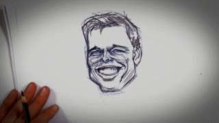 How to Draw Brad Pitt | Drawing Tips