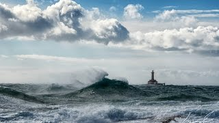 Extreme weather at lighthouse Porer, Croatia - Wild Wild Sea by Sting